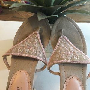Shoes - Pink flats with tiny sequins.     Mossimo
